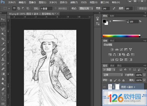 Photoshop铅笔画方法6