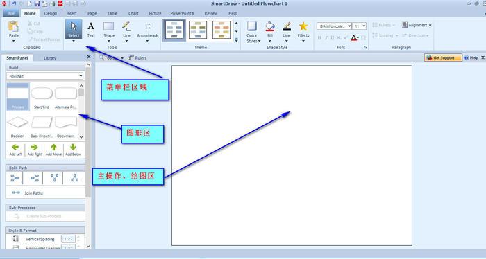 SmartDraw中文版界面介绍2