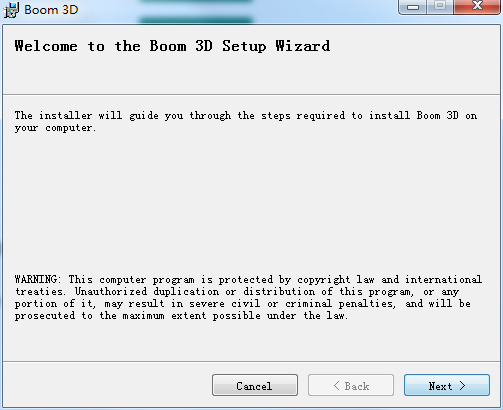 Boom 3D破解版安装步骤1