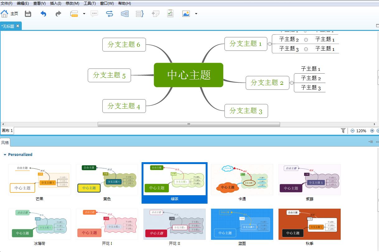 XMind2021专业版绘制思维导图3