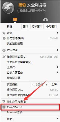 猎豹安全浏览器官方版设置兼容模式2