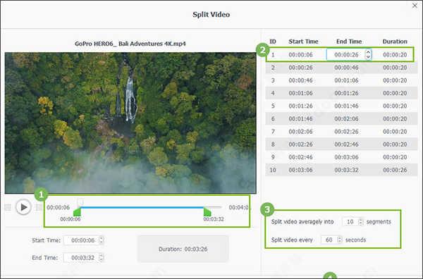 VideoProc4中文版分割影片