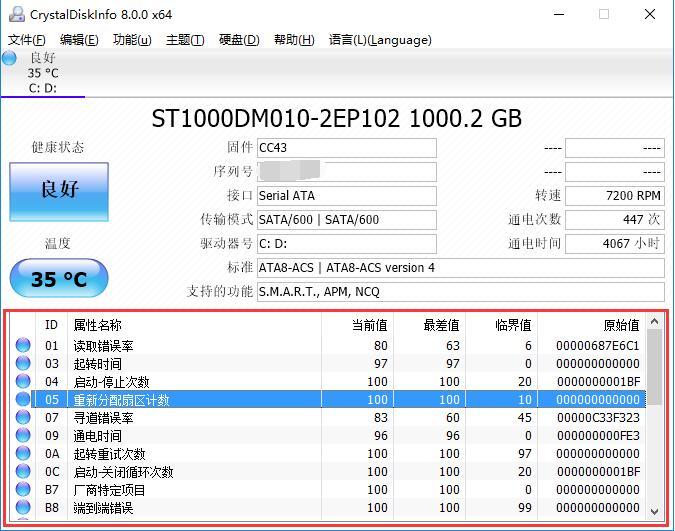 CrystalDiskInfo注册版使用方法2