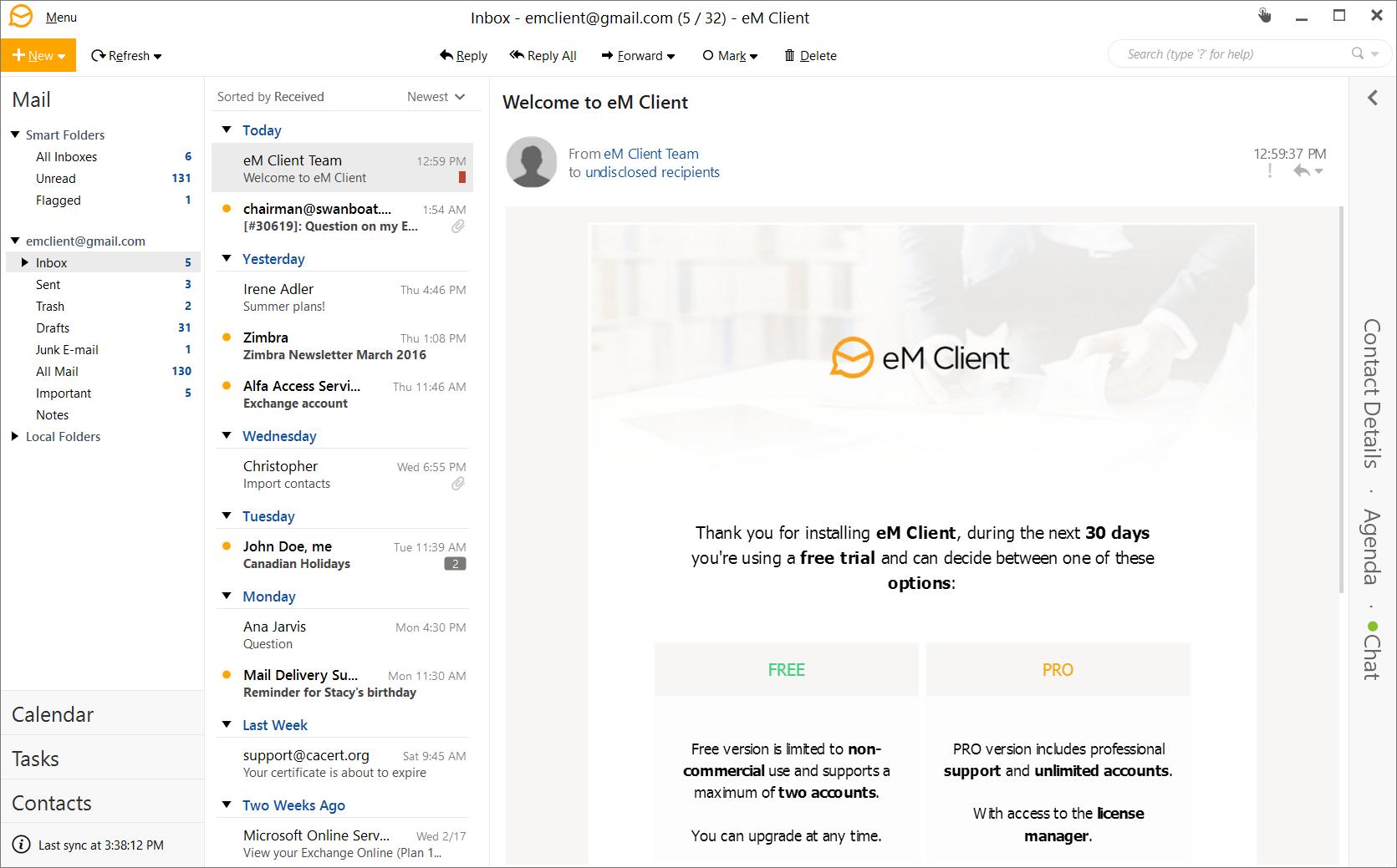 eM Client破解版特色