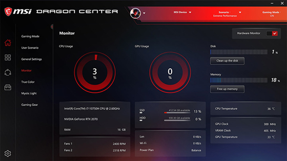 微星Dragon Center