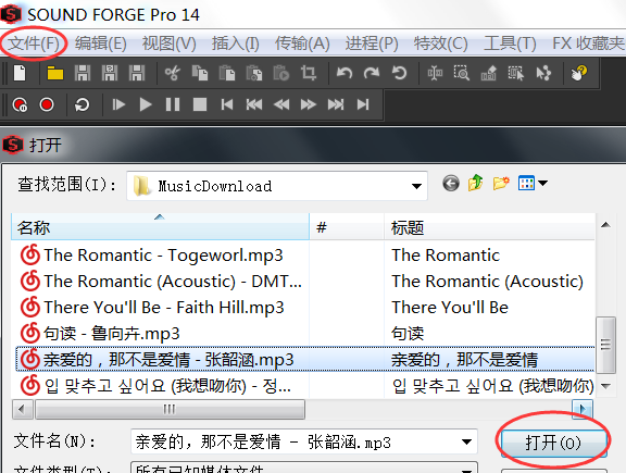 Sound Forge Pro 14制作歌曲伴奏1