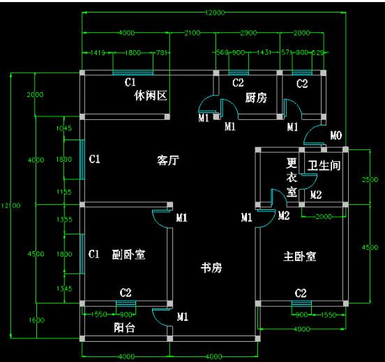 CAD迷你家装注册版绘制室内CAD平面图1