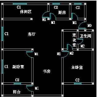 CAD迷你家装注册版绘制室内CAD平面图7