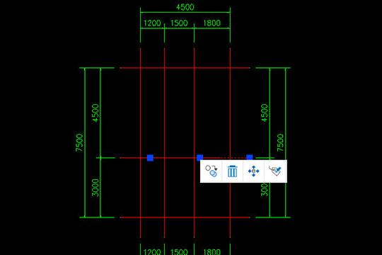 CAD迷你家装注册版快速画轴线5